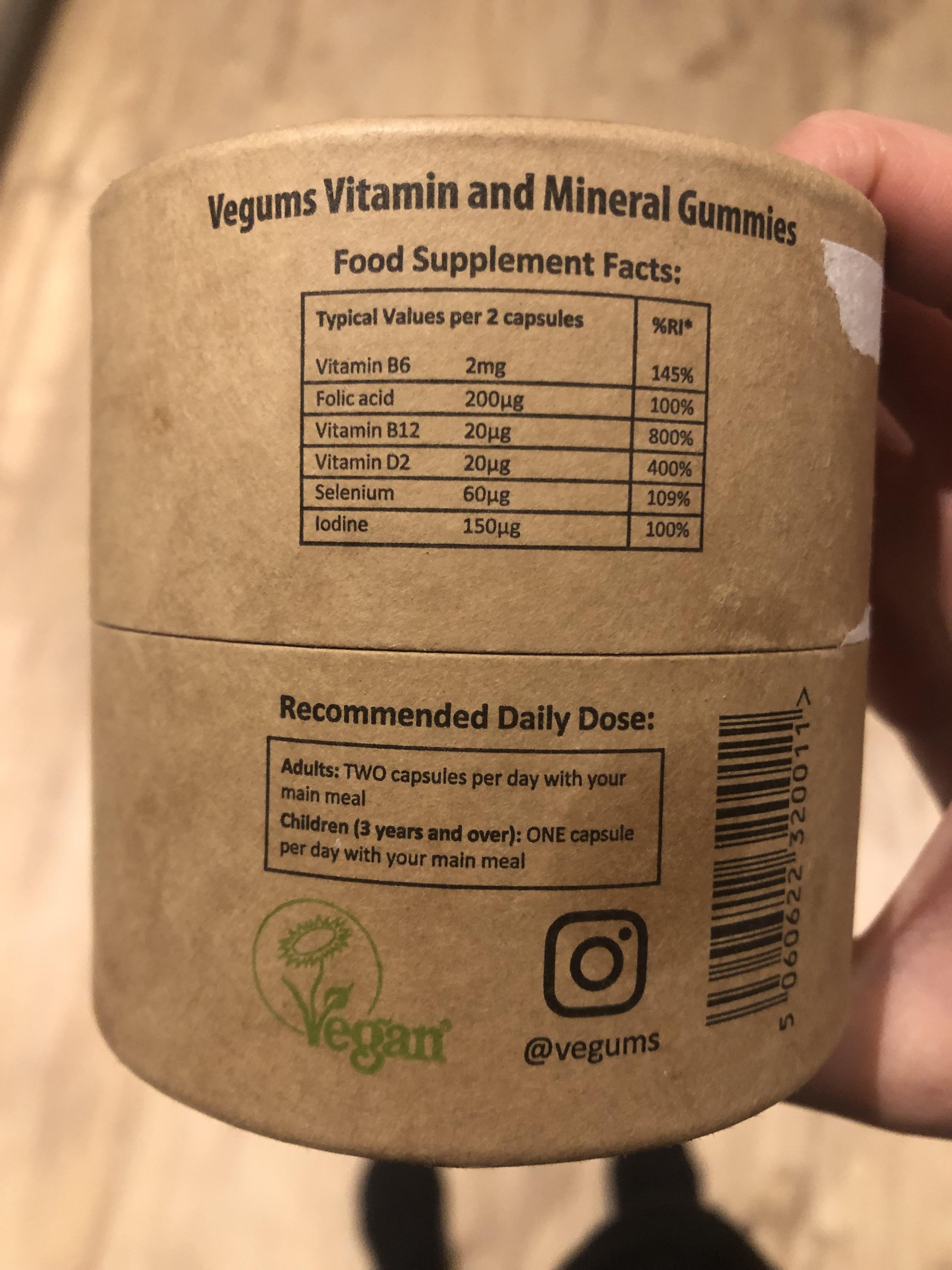Vegums nutrition